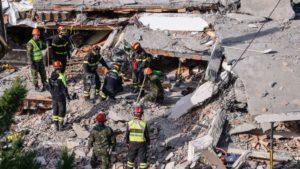 Rescuers search for missing people