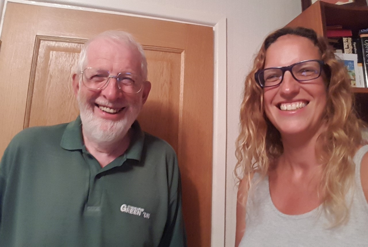 Debi Hall with her dad, Barry Mead