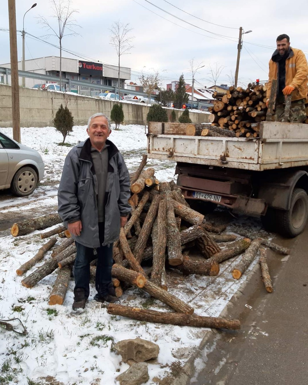 Firewood delivered in Kosovo