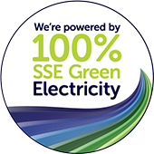 We're powered by 100% SSE Green Energy