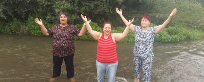 three new believers were recently baptised